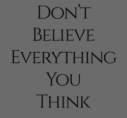 Dont believe everything you think 250x233 Dont believe everything you think